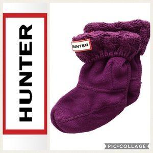 💜KIDS!! Hunter 6 Stitch Cable Boot Socks {Violet}